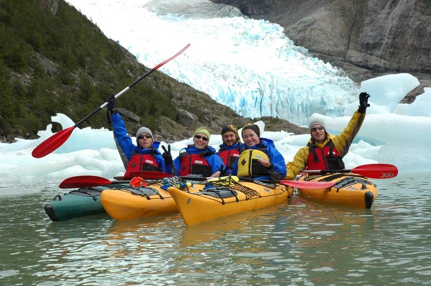 Kayaking to Serrano Glacier