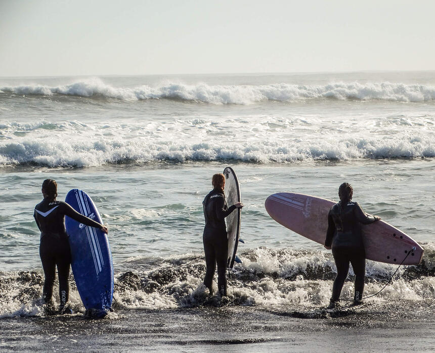 Surfing in Pichilemu Chile