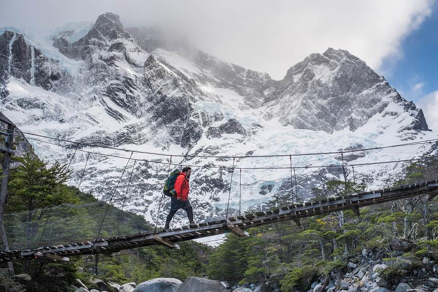 Hiking in French Valley in Torres del Paine