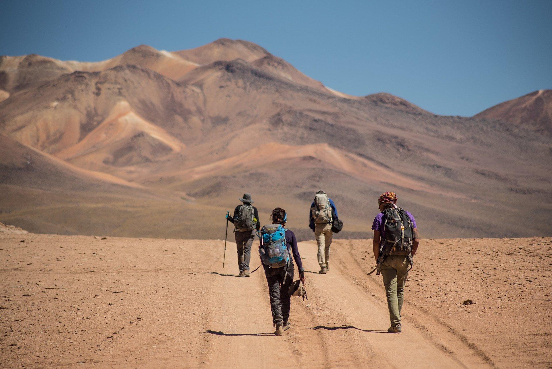 Hiking in the Atacama Desert in Chile