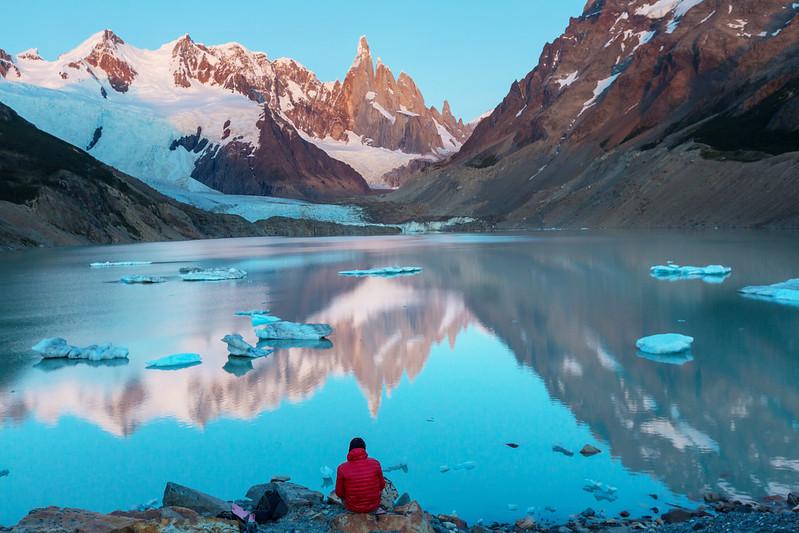 Sunrise at Cerro Torre in Argentina