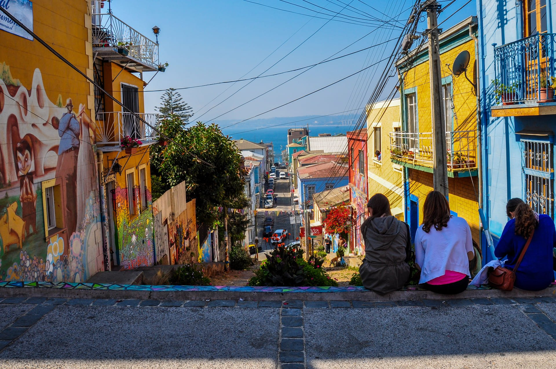 The Hills of Valparaiso in Chile