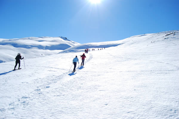 trekking andes mountains