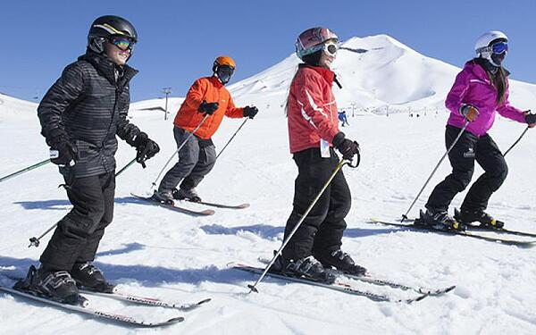 Skiing in Southern Chile