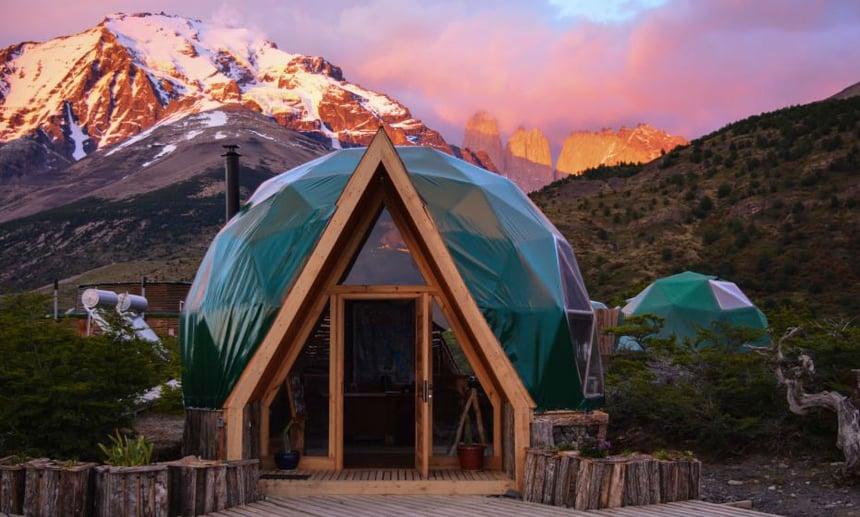 ecocamp reception dome