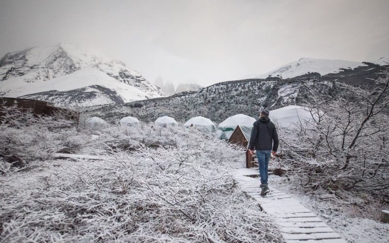 EcoCamp in Winter