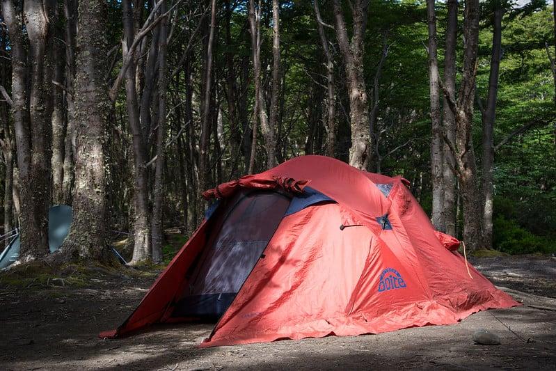Tent in Torres del Paine