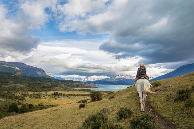Horseback riding at Estancia La Peninsula