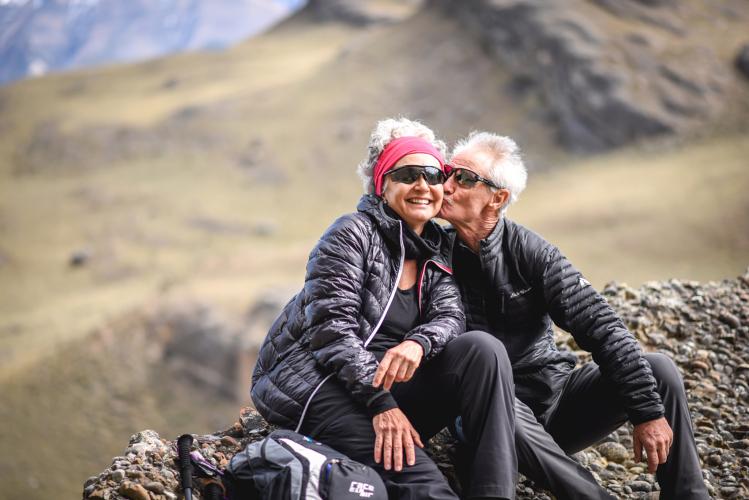Couple in Torres del Paine