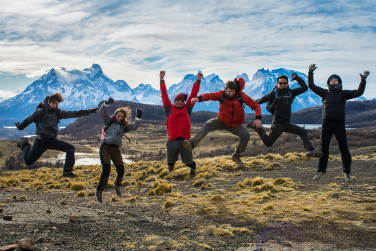 Group of Hikers in Patagonia