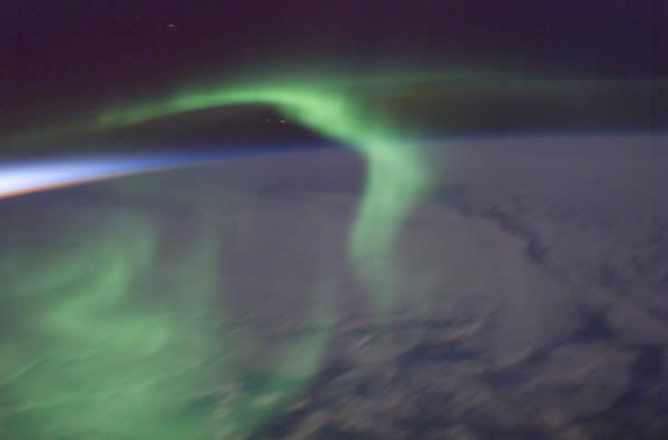 aurora australis from International Space Station