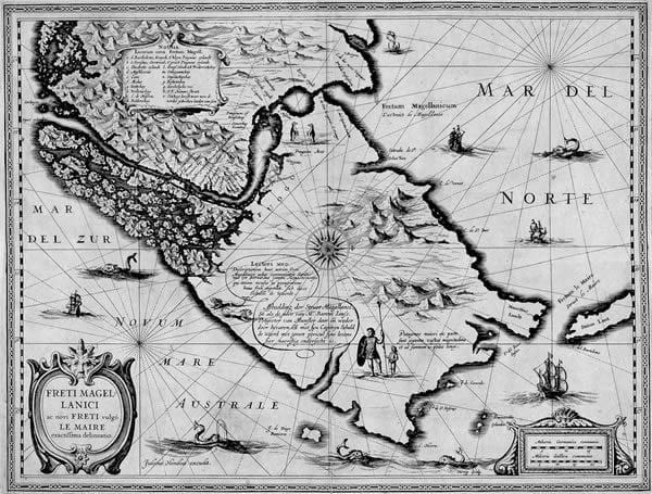 Old Map of Patagonia