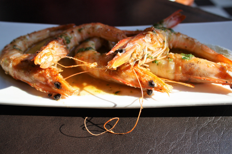 Prawns in Chile
